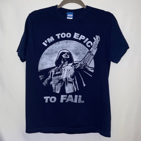 "Star Wars ""I'm Too Epic Too Fail"" Shirt Navy Blue"